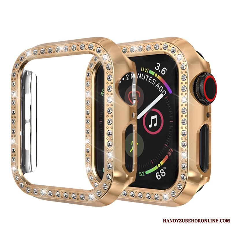 Apple Watch Series 3 Incassable Étui Incruster Strass Coque Protection Or