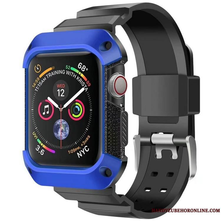Apple Watch Series 4 Armure Sport Coque Protection Incassable Bleu