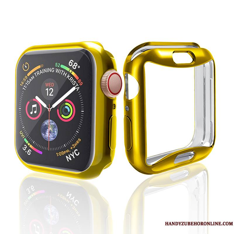 Apple Watch Series 4 Coque Étui Placage Or Incassable Tendance Protection Silicone