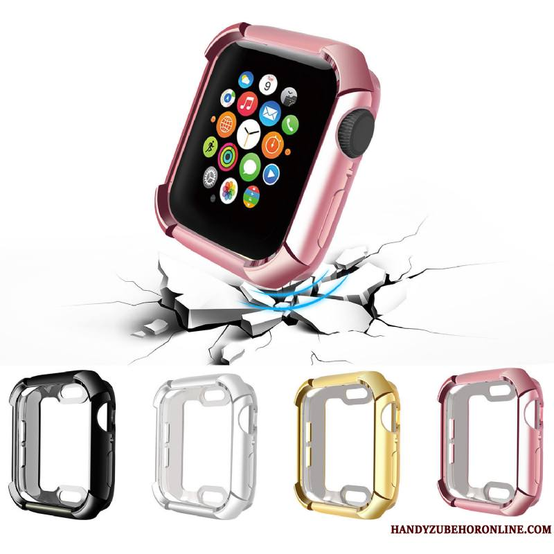 Apple Watch Series 4 Coque Tendance Accessoires Bovins Protection Rose Silicone
