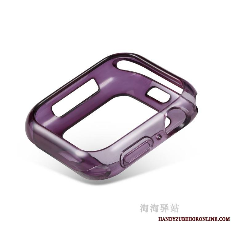 Apple Watch Series 4 Incassable Étui Pu Coque Violet Fluide Doux Bicolore