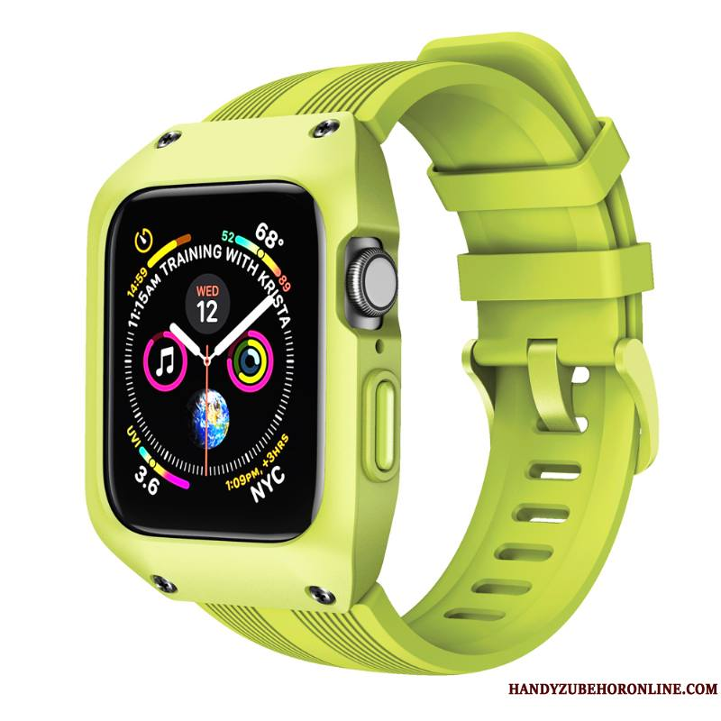 Apple Watch Series 4 Protection Coque Sport Étui Incassable Créatif Vert