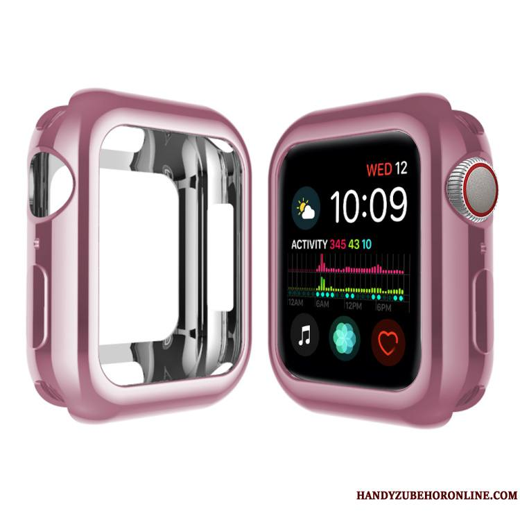 Apple Watch Series 4 Silicone Placage Étui Fluide Doux Protection Coque Bordure