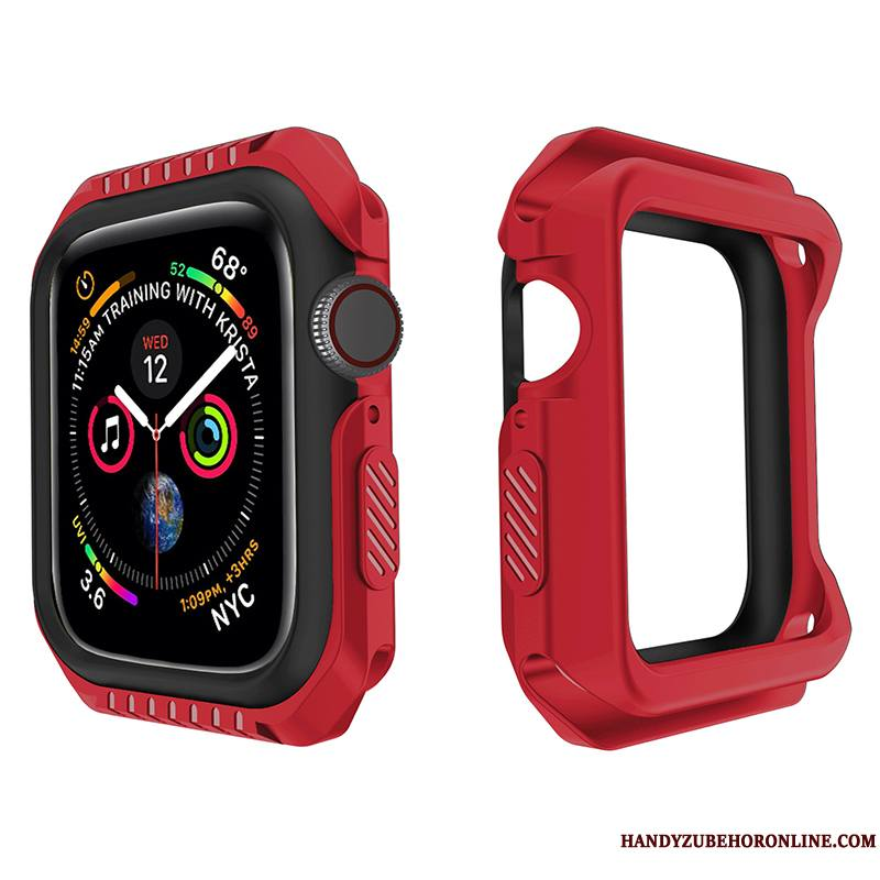 Apple Watch Series 4 Sport Accessoires Protection Silicone Étui Bicolore Coque