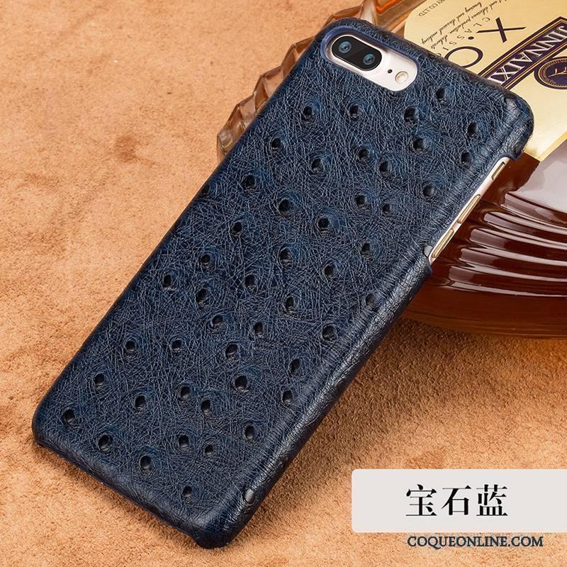 Htc 10 Coque De Téléphone Bleu Étui Protection Incassable Cuir Véritable Couvercle Arrière