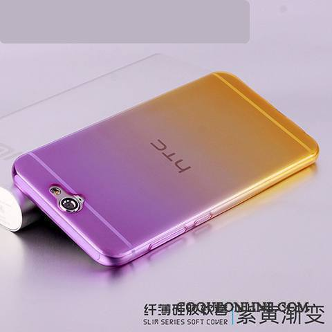Htc One A9 Coque Protection Incassable Très Mince Fluide Doux Silicone Transparent Violet