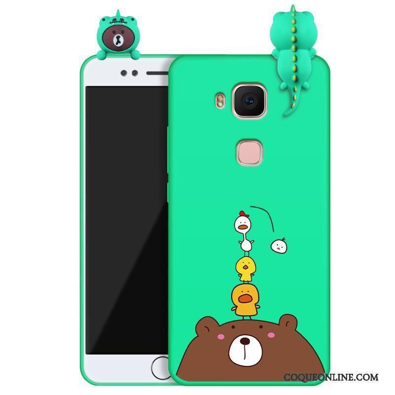 Huawei G7 Plus Tendance Charmant Coque De Téléphone Vert Nouveau Silicone Étui