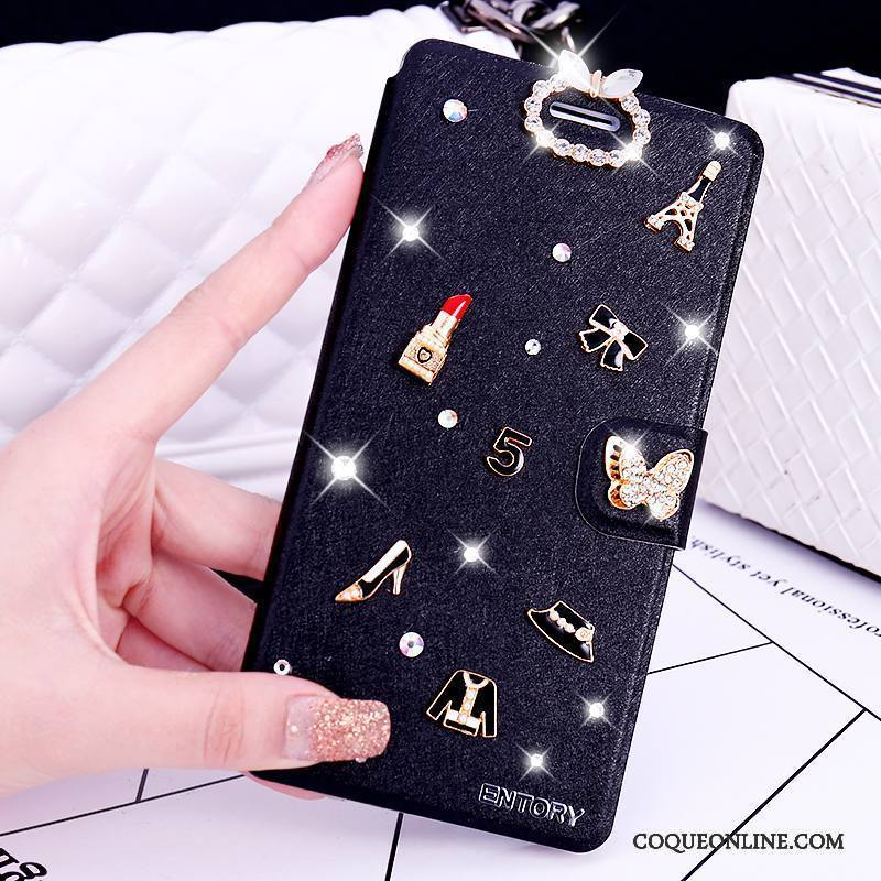Huawei G9 Plus Étui Coque Strass Protection Incassable Clamshell Tendance