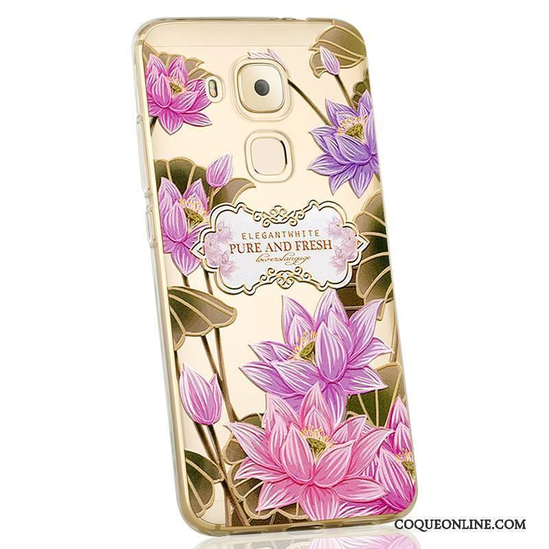 Huawei G9 Plus Silicone Personnalité Fluide Doux Créatif Étui Coque De Téléphone Violet