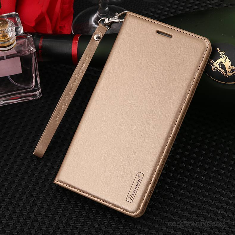 Huawei Mate 10 Lite Étui En Cuir Ornements Suspendus Incassable Protection Housse Cuir Véritable Coque De Téléphone