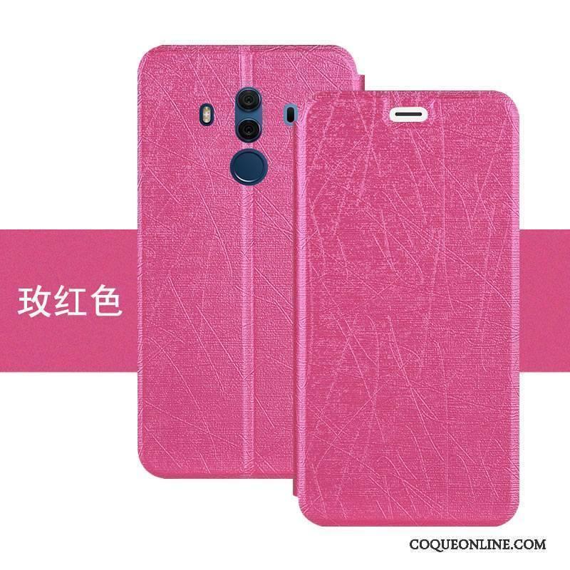 Huawei Mate 10 Pro Coque De Téléphone Tout Compris Étui En Cuir Membrane  Support Fluide Doux Housse