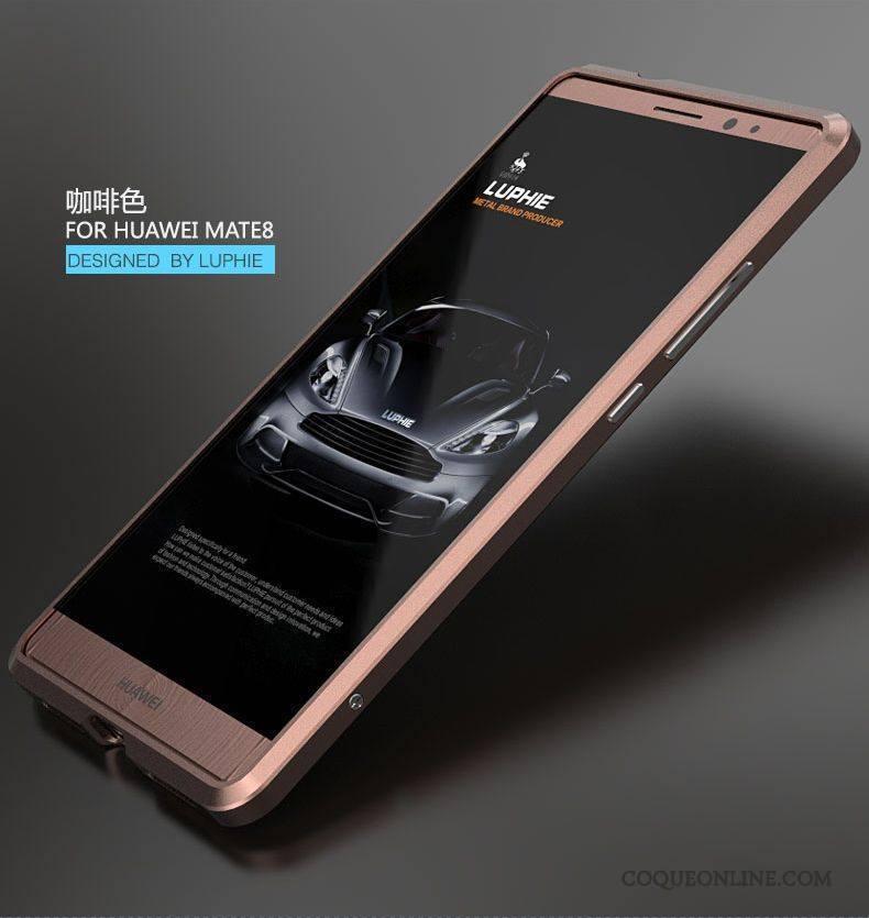 Huawei Mate 8 Border Coque Protection Très Mince Métal Étui Incassable