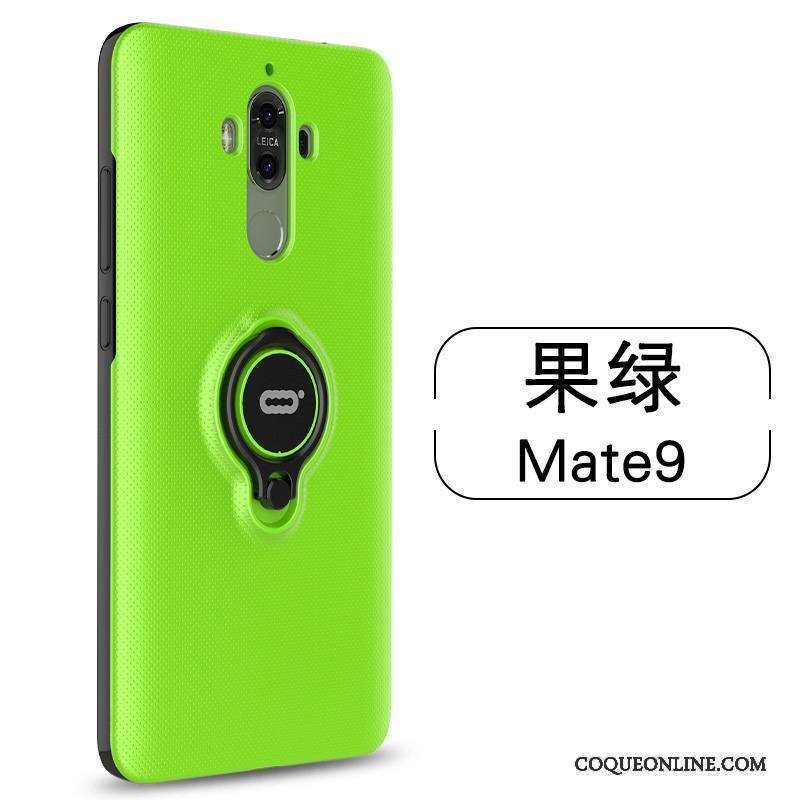 Huawei Mate 9 Coque Silicone Support Protection Incassable Vert Boucle Étui