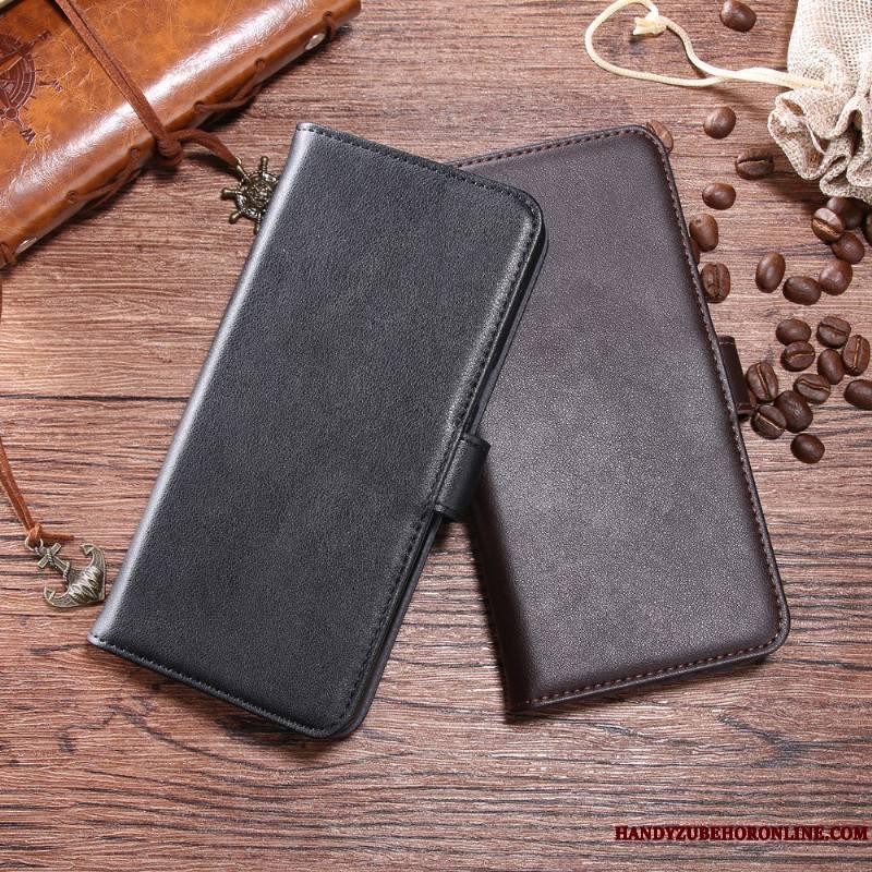Huawei P Smart+ Coque Étui En Cuir Tout Compris Tendance Téléphone Portable Housse Portefeuille Cuir Véritable