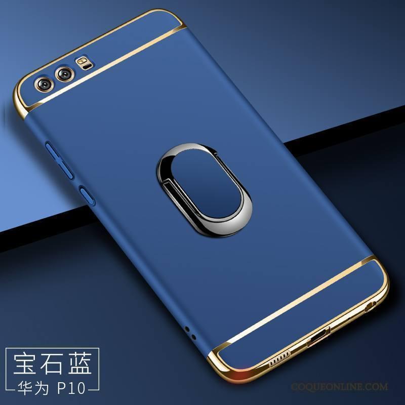 Huawei P10 Magnétisme Coque Protection Incassable Support Difficile Bleu