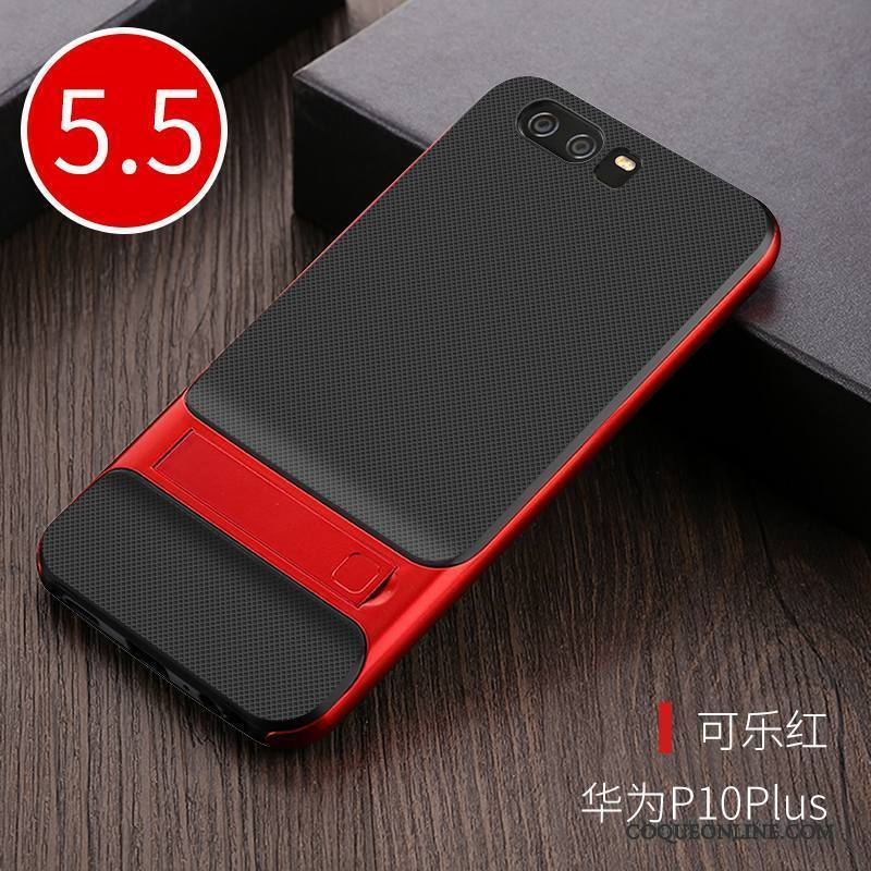 Huawei P10 Plus Rouge Support Coque Protection Très Mince Silicone Incassable