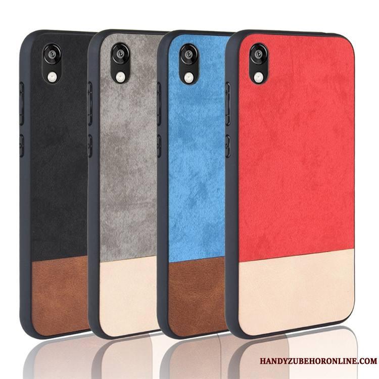 Huawei Y5 2019 Étui Protection Coque De Téléphone Bleu Cuir Tout Compris