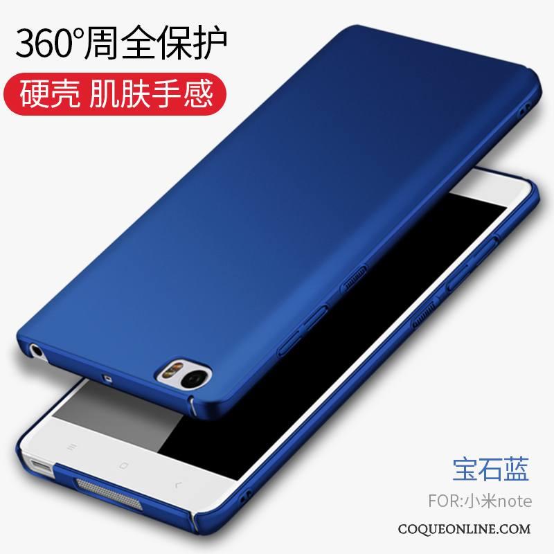 Mi Note Difficile Protection Tout Compris Coque De Téléphone Bleu Simple Petit