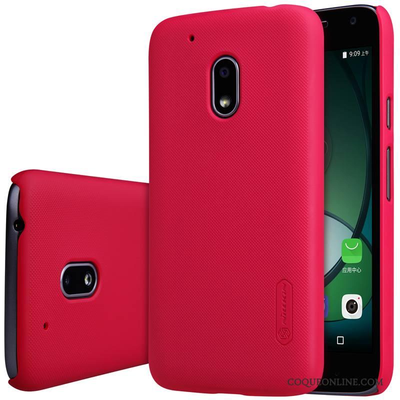 Moto G4 Play Étui Protection Coque De Téléphone Rouge Or Téléphone Portable
