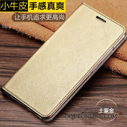 Moto G5 Plus Coque Business Cuir Véritable Vintage Protection Housse Or Luxe