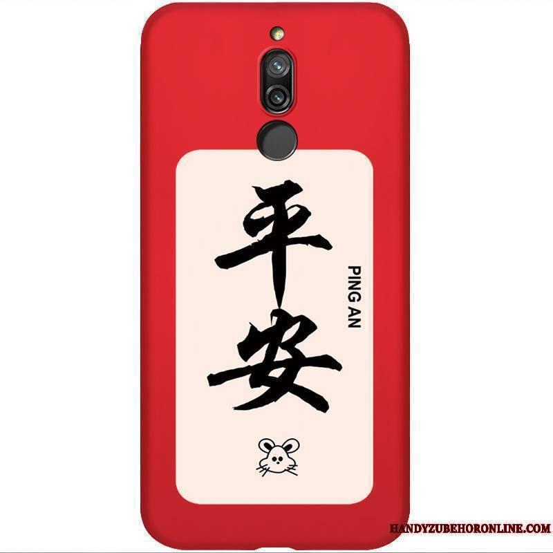 Redmi 8 Personnalité Silicone Fluide Doux Légère Protection Coque De Téléphone Incassable