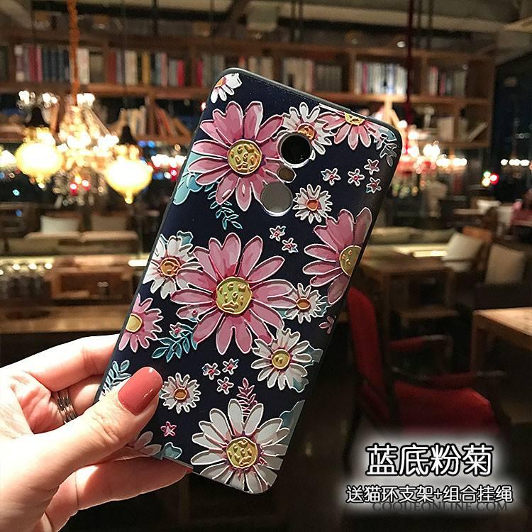 Redmi Note 4x Tout Compris Coque De Téléphone Multicolore Gaufrage Haute Rouge Fluide Doux