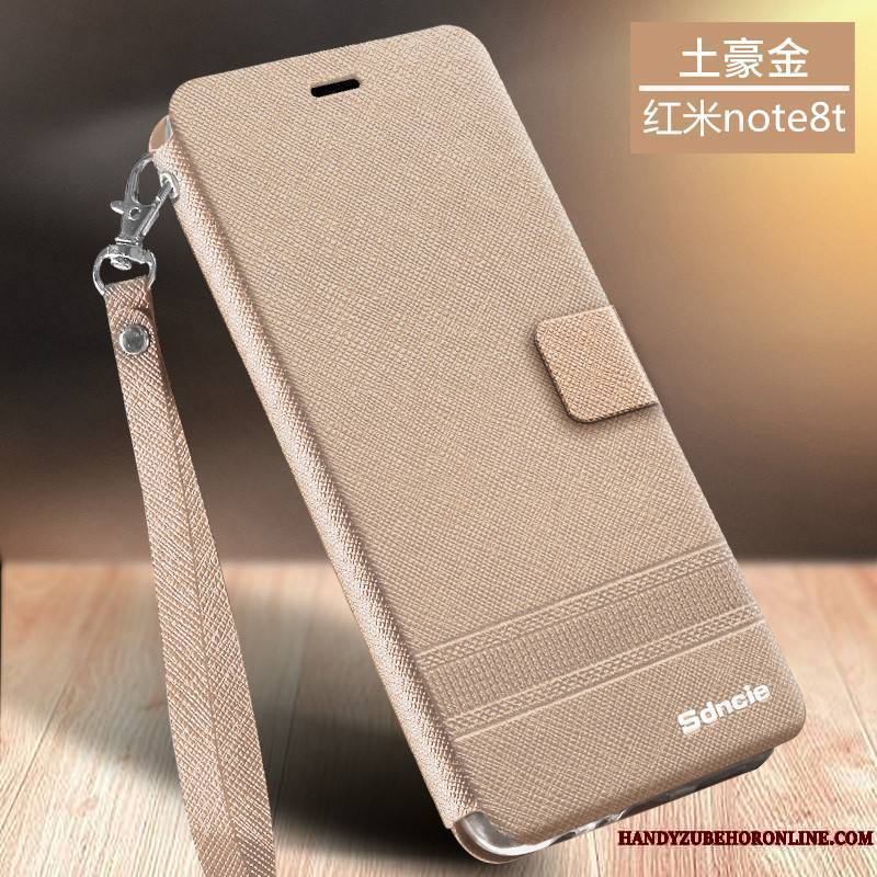 Redmi Note 8t Business Protection Clamshell Coque De Téléphone Incassable Ornements Suspendus Tempérer