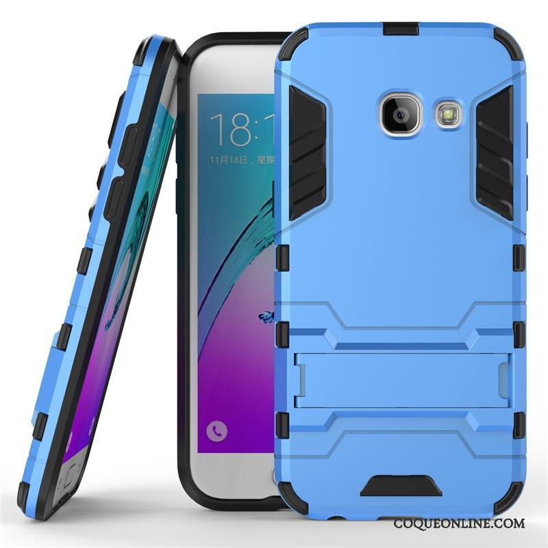 Samsung Galaxy A5 2017 Étoile Incassable Silicone Difficile Protection Coque Bleu