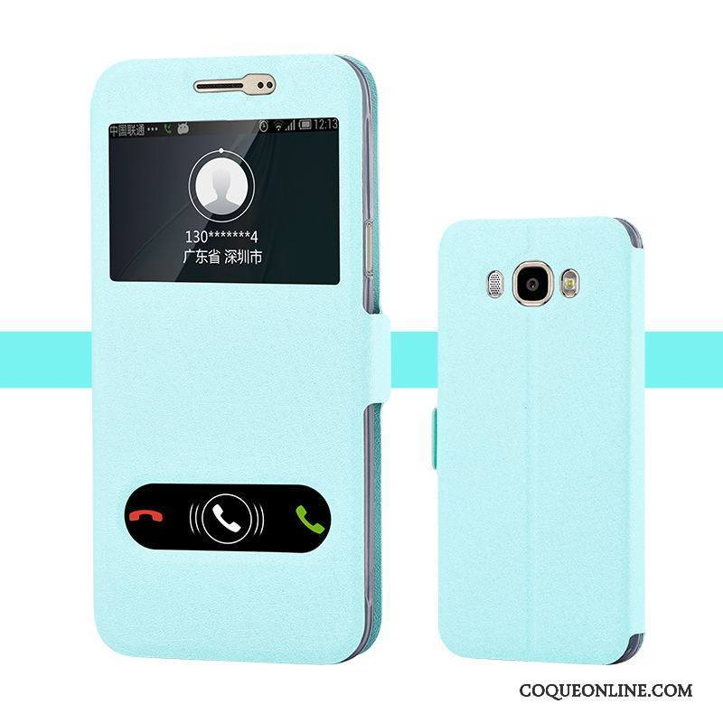 Samsung Galaxy J7 2016 Protection Étoile Étui Tendance Coque De Téléphone Bleu Étui En Cuir