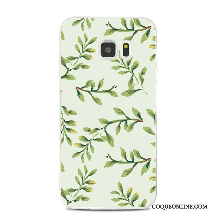 Samsung Galaxy Note 5 Fluide Doux Gaufrage Vert Silicone Coque Support Étoile