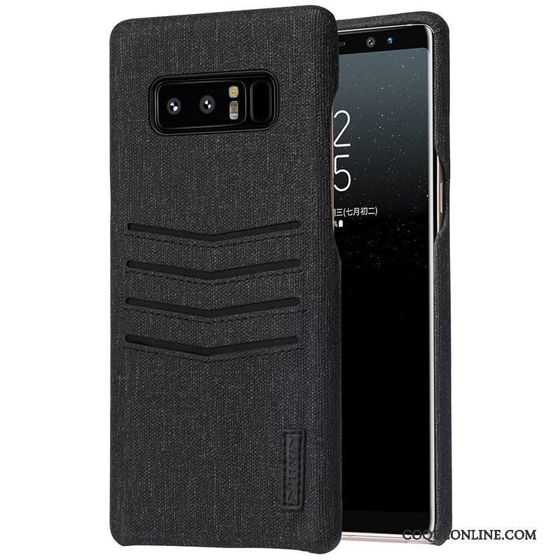 Samsung Galaxy Note 8 Créatif Protection Carte Téléphone Portable Noir Étoile Coque