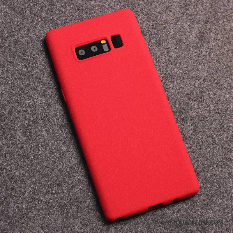 Samsung Galaxy Note 8 Protection Étui Tout Compris Coque Étoile Rouge De Téléphone