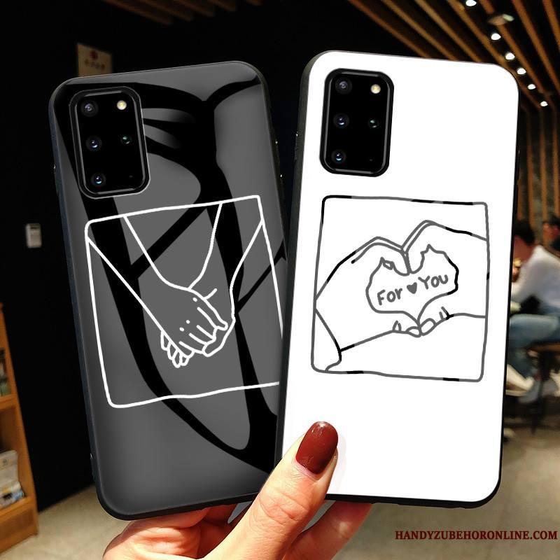 Samsung Galaxy S20+ Coque Simple Étoile Incassable Mode Étui Amoureux Verre