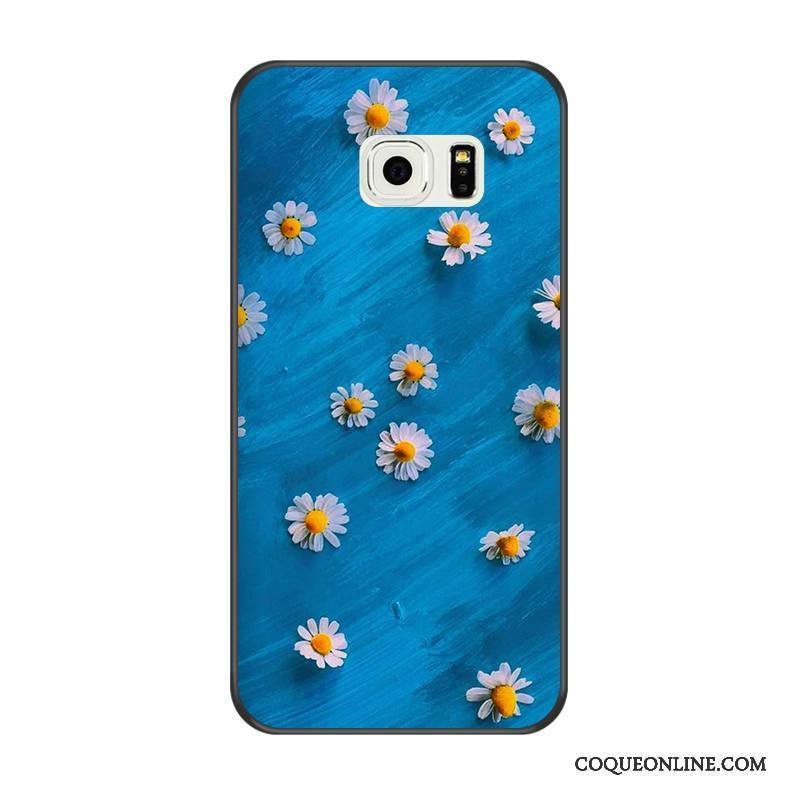 coque galaxy s6 silicone bleu