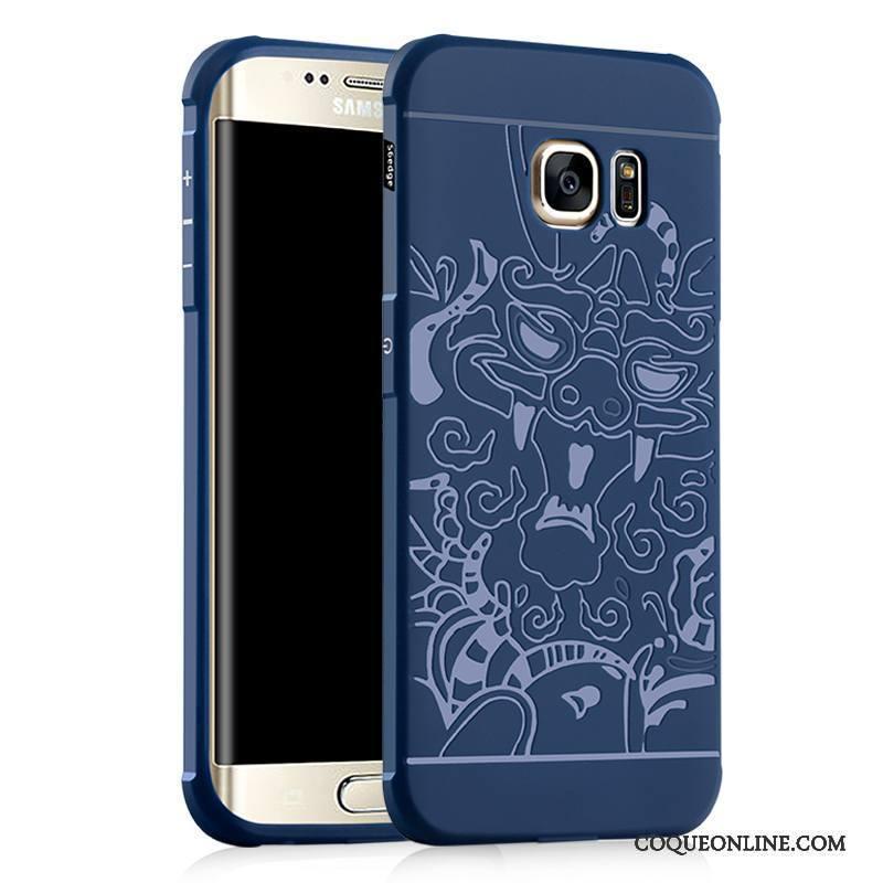 coque bleu galaxy s6