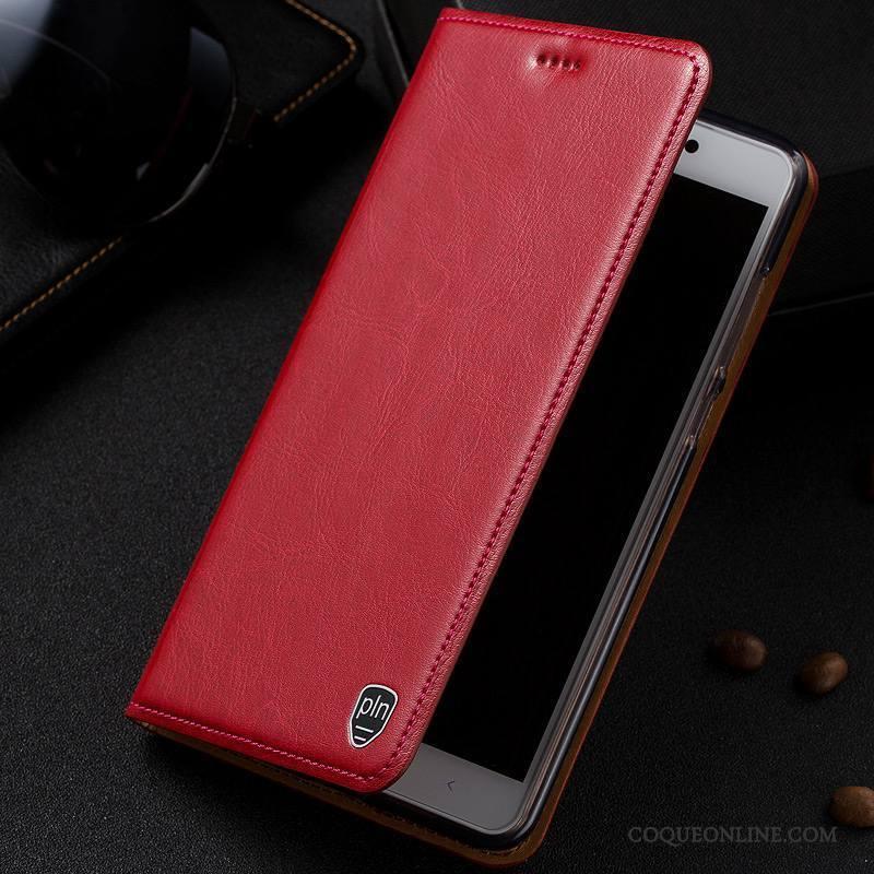 Samsung Galaxy S7 Edge Coque Modèle Fleurie Protection Téléphone Portable Étui En Cuir Rouge Housse Étoile
