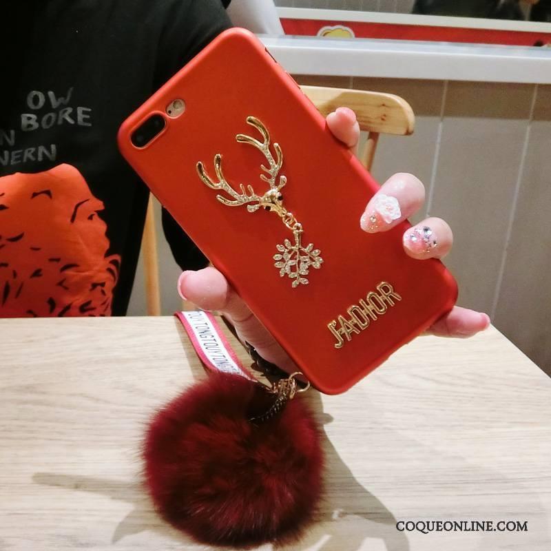 Samsung Galaxy S7 Edge Elk Luxe Coque De Téléphone Rouge Personnalité  Élégant Pompon fe5199efdc0f