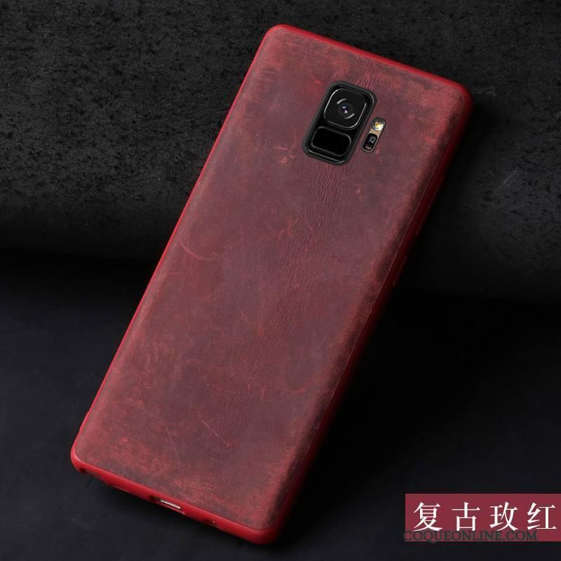 Samsung Galaxy S9 Coque Protection Tout Compris Créatif Étui Rouge Vintage  Personnalité d524dc3e08b