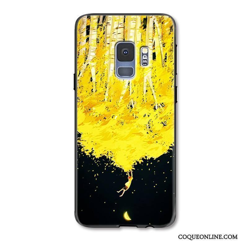 Samsung Galaxy S9+ Coque Tout Compris Gaufrage Incassable Étui Protection Peinture Étoile