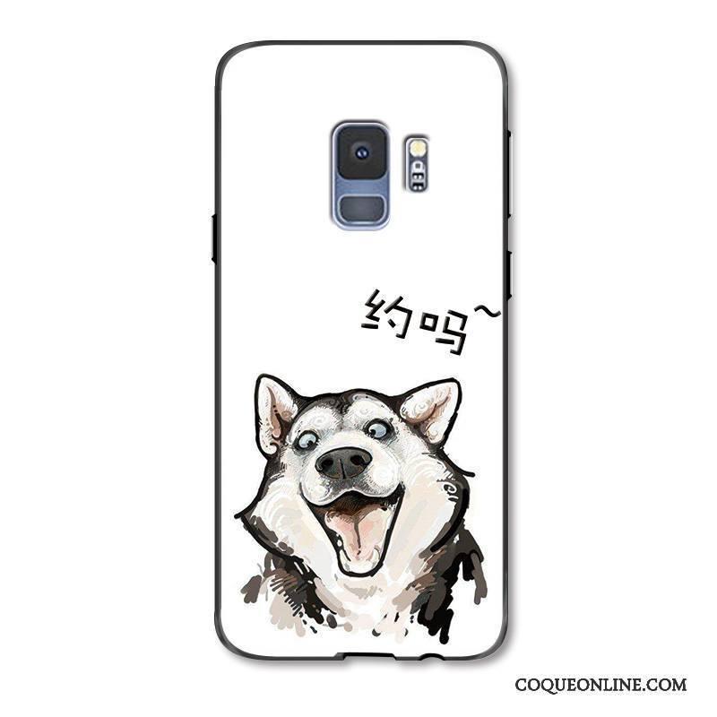 Samsung Galaxy S9 Drôle Coque De Téléphone Amoureux Peinture Blanc Charmant Dessin Animé