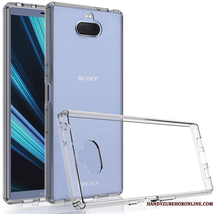 Sony Xperia 10 Plus Créatif Téléphone Portable Tempérer Fluide Doux Étui Transparent Coque