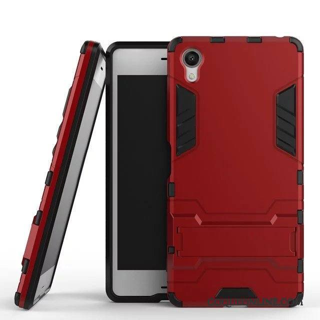 Sony Xperia X Téléphone Portable Outdoor Armure Personnalité Protection Rouge Coque