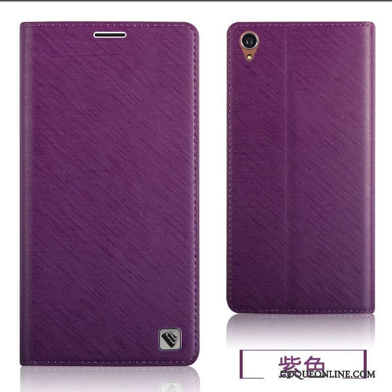 Sony Xperia Z3+ Couvercle Arrière Fluide Doux Protection Étui Violet Étui En Cuir Coque