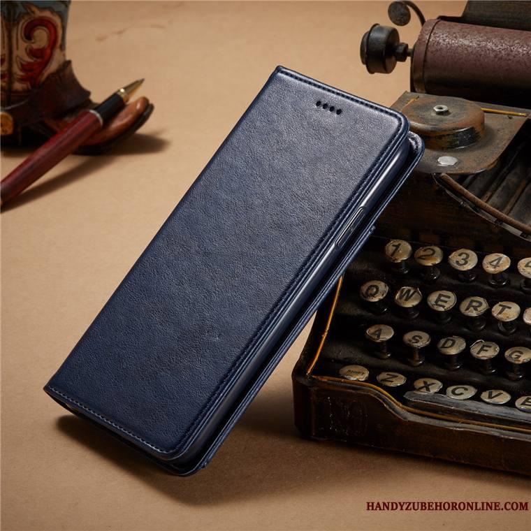 iPhone 11 Pro Bleu Housse Protection Portefeuille Business Étui En Cuir Coque De Téléphone