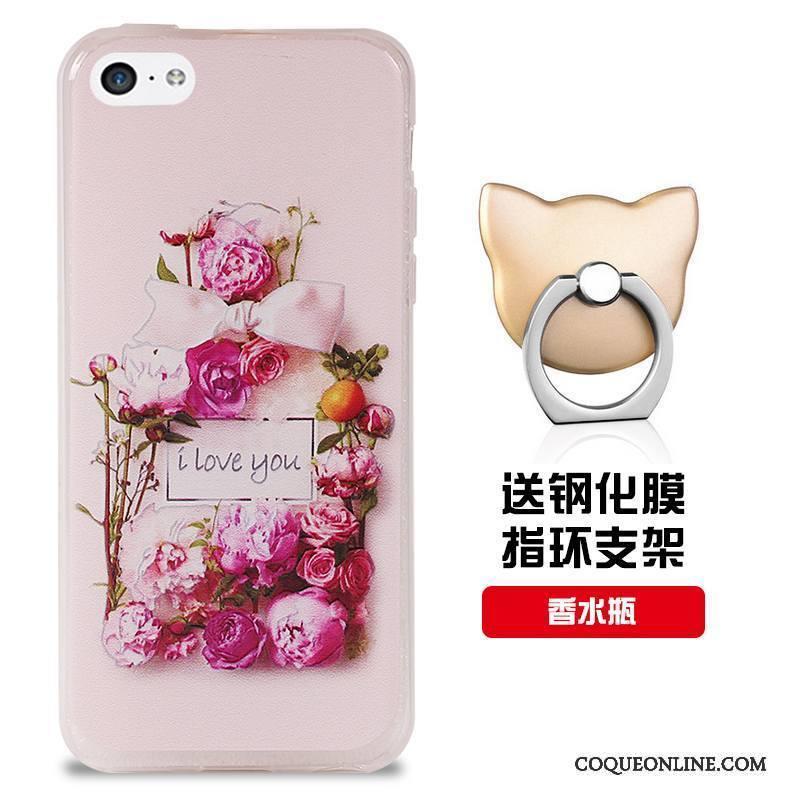 iPhone 5c Rouge Modèle Coque De Téléphone Silicone Fluide Doux Personnalisé Incassable