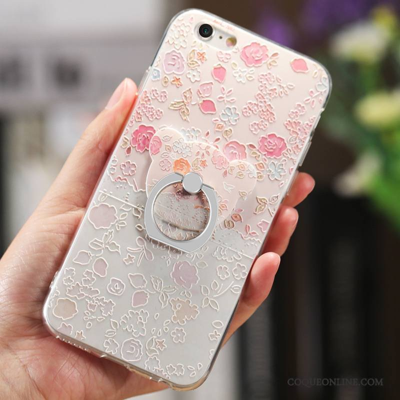 iPhone 6/6s Floral Protection Rose Coque De Téléphone Étui Net Rouge Ornements Suspendus