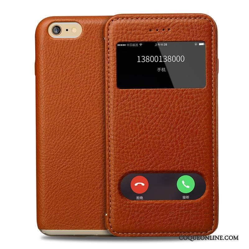 iPhone 6 6s Plus Coque De Téléphone Cuir Véritable Tout Compris Nouveau Business Étui En Cuir Incassable 624