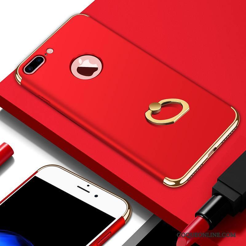 iPhone 7 Plus Coque Tout Compris Marque De Tendance Très Mince Rouge Pu Incassable Ornements Suspendus 1098
