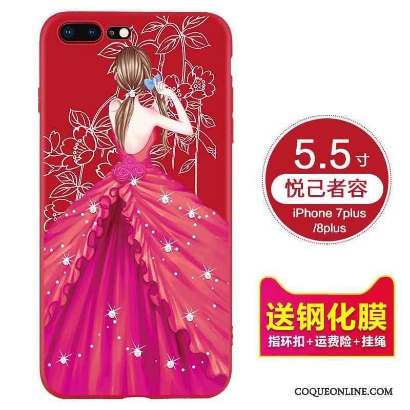 coque silicone rouge iphone 7 plus