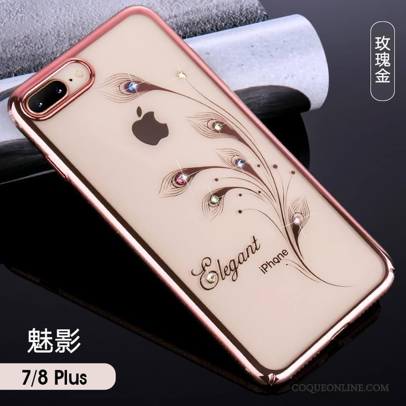 iPhone 7 Plus Nouveau Tout Compris Marque De Tendance Étui Incassable Coque De Téléphone Or Rose 1125